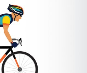 Bicycle sport illustration vector 04