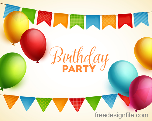 Birthday holiday party background vector 02