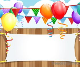 Birthday party outside design vector