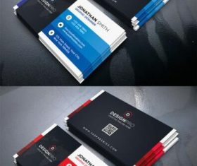 Black Styles Modern Business Card PSD Template