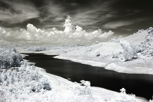 Black and white landscape photography Stock Photo 06