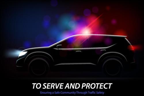 Black car illustration vectors set 02