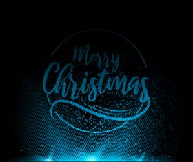Blue light christmas background art vector