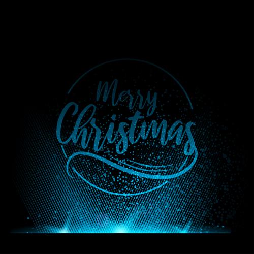 Blue light christmas background art vector