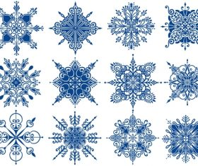 Blue snowflake style illustration vector