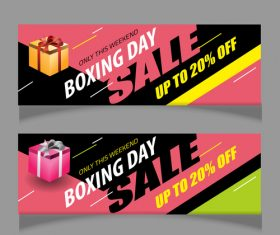 Boxing day sale banners vector material 06