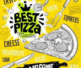 Burger house menu design vector 01