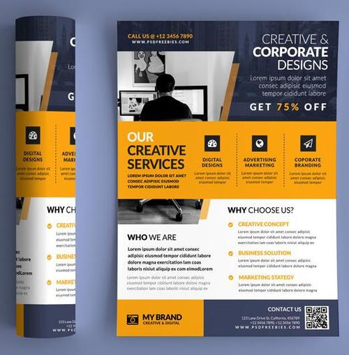 Business Promotional Brochure and Flyer PSD Template