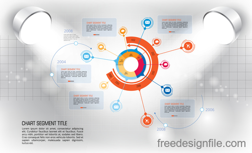 Business infographic with spotlight vector template 01