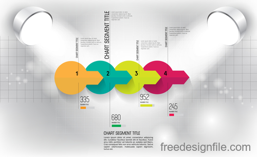 Business infographic with spotlight vector template 10