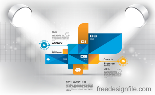 Business infographic with spotlight vector template 13