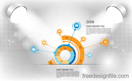 Business infographic with spotlight vector template 18