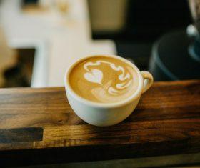 Cappuccino flower coffee Stock Photo