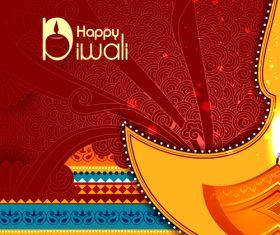 Celebrate diwali festival design vector material 01