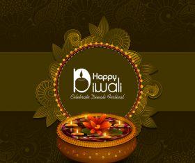 Celebrate diwali festival design vector material 04