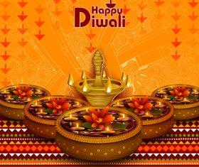 Celebrate diwali festival design vector material 05