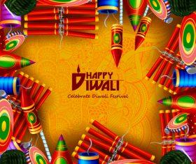 Celebrate diwali festival design vector material 06