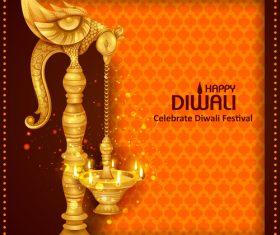 Celebrate diwali festival design vector material 08