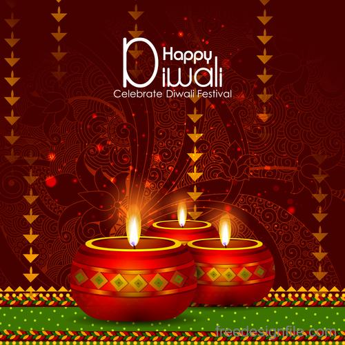Celebrate diwali festival design vector material 09