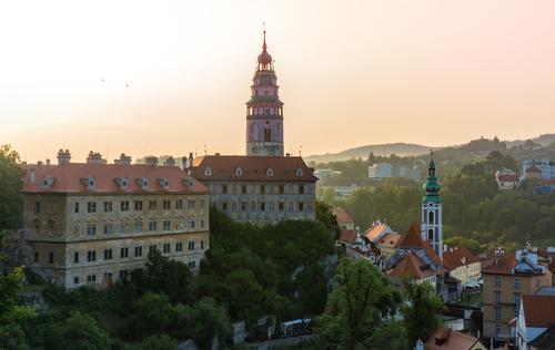 Cesky Krumlov CK town scenery Stock Photo 09