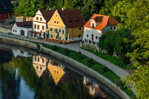 Cesky Krumlov CK town scenery Stock Photo 10