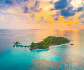 Charming resort island Stock Photo 03