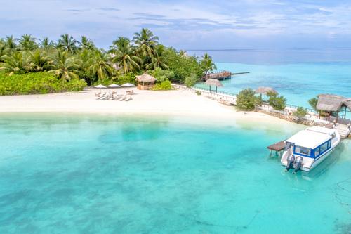 Charming resort island Stock Photo 04