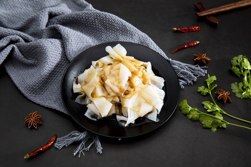 China cuisine steamed cold noodles Stock Photo 01