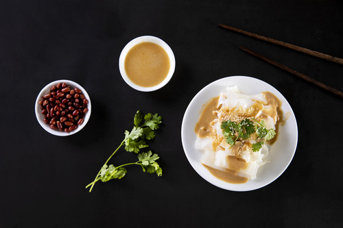 China cuisine steamed cold noodles Stock Photo 04