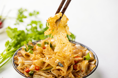 China cuisine steamed cold noodles Stock Photo 06