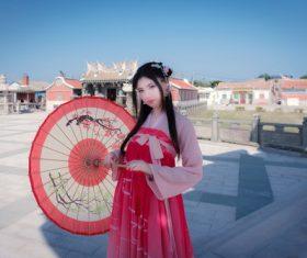 China retro dressed girl Stock Photo