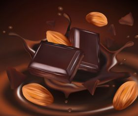 Chocolate splash effect vector design 01
