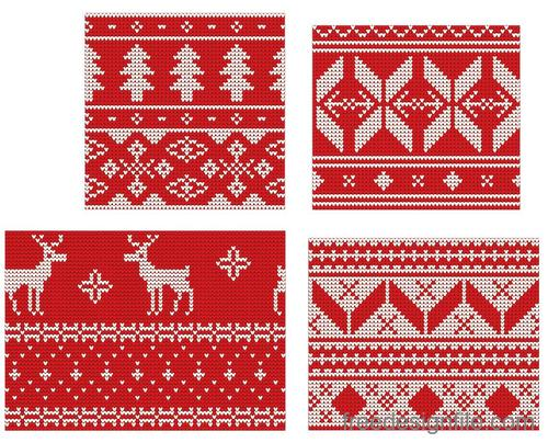 Christmas Knitted Photoshop Pattern
