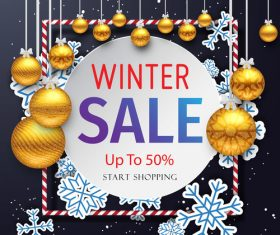 Christmas Sale Master Poster design vector