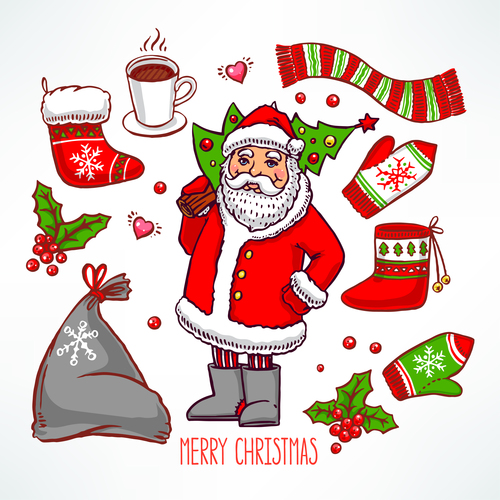 Christmas colorful baubles vectors set 01