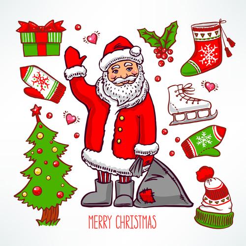 Christmas colorful baubles vectors set 02
