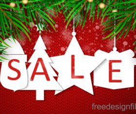 Christmas discount sale poster template vectors 03