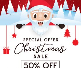 Christmas discount sale poster template vectors 06