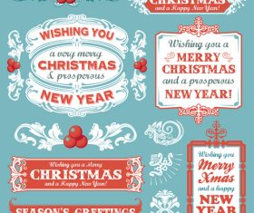 Christmas festive banners vintage vector 02