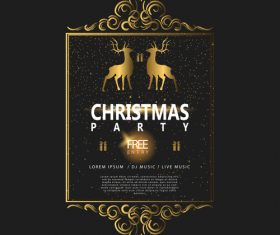 Christmas luxury golden labels vector 02