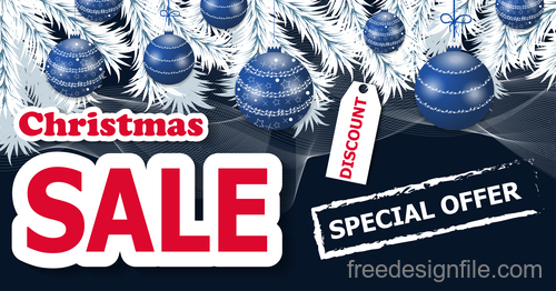 Christmas special offer with discount sale poster vectors