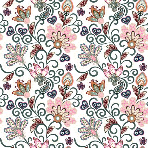 Classic floral decorative pattern seamless vectors 01
