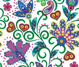 Classic floral decorative pattern seamless vectors 02