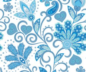 Classic floral decorative pattern seamless vectors 03