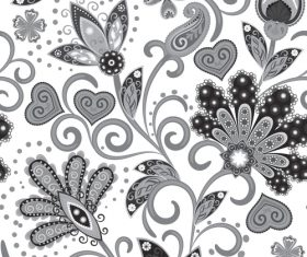 Classic floral decorative pattern seamless vectors 04