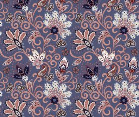 Classic floral decorative pattern seamless vectors 05