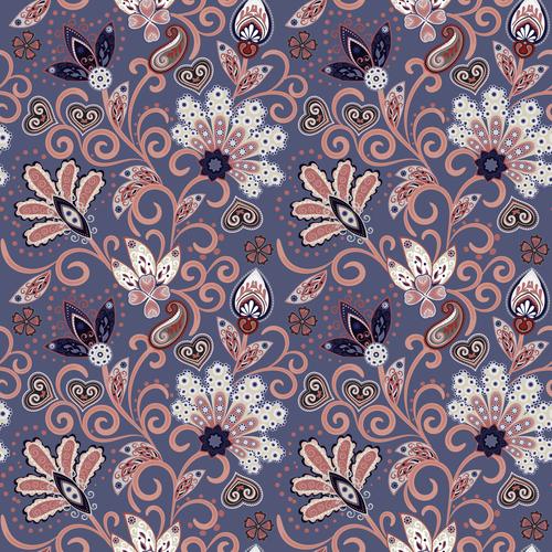 Classic floral decorative pattern seamless vectors 05