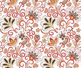 Classic floral decorative pattern seamless vectors 07