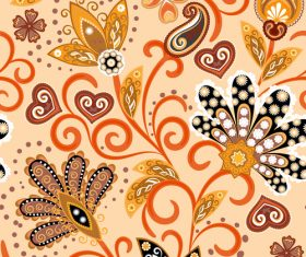 Classic floral decorative pattern seamless vectors 09