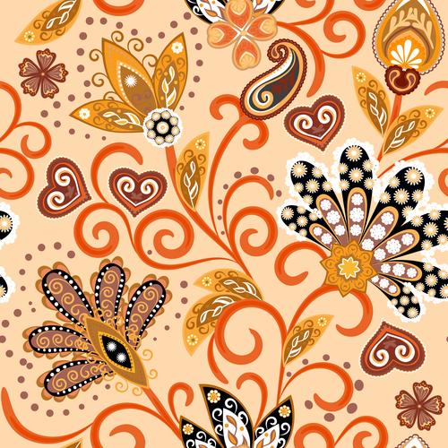 Classic floral decorative pattern seamless vectors 09